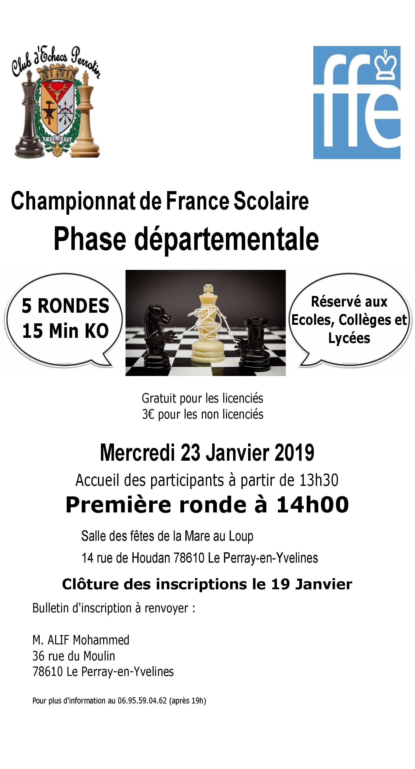 Scolaires 2019 - Annonce